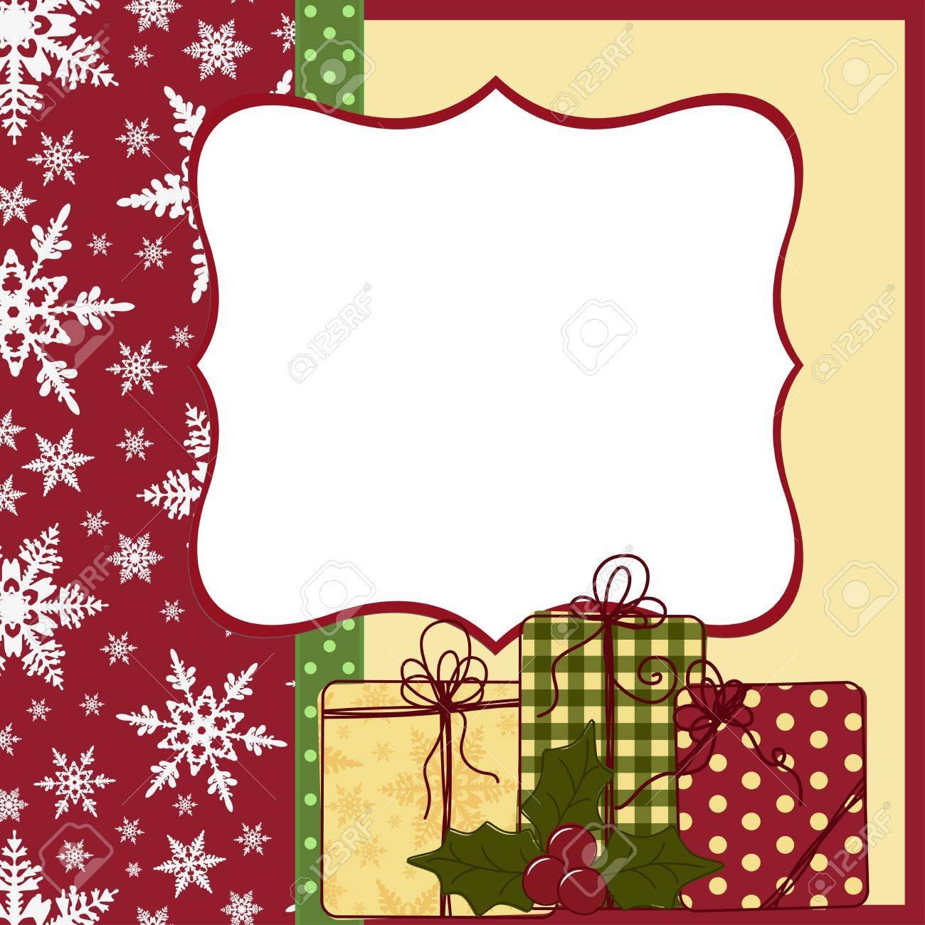 Cute Christmas Postcard Template Royalty Free Cliparts Vectors And - Christmas postcard template