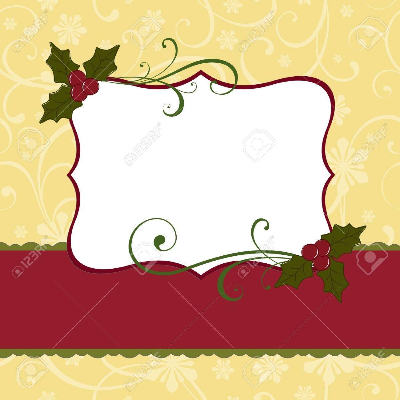 cute christmas postcard template royalty cliparts vectors cute christmas postcard template stock vector 15366904