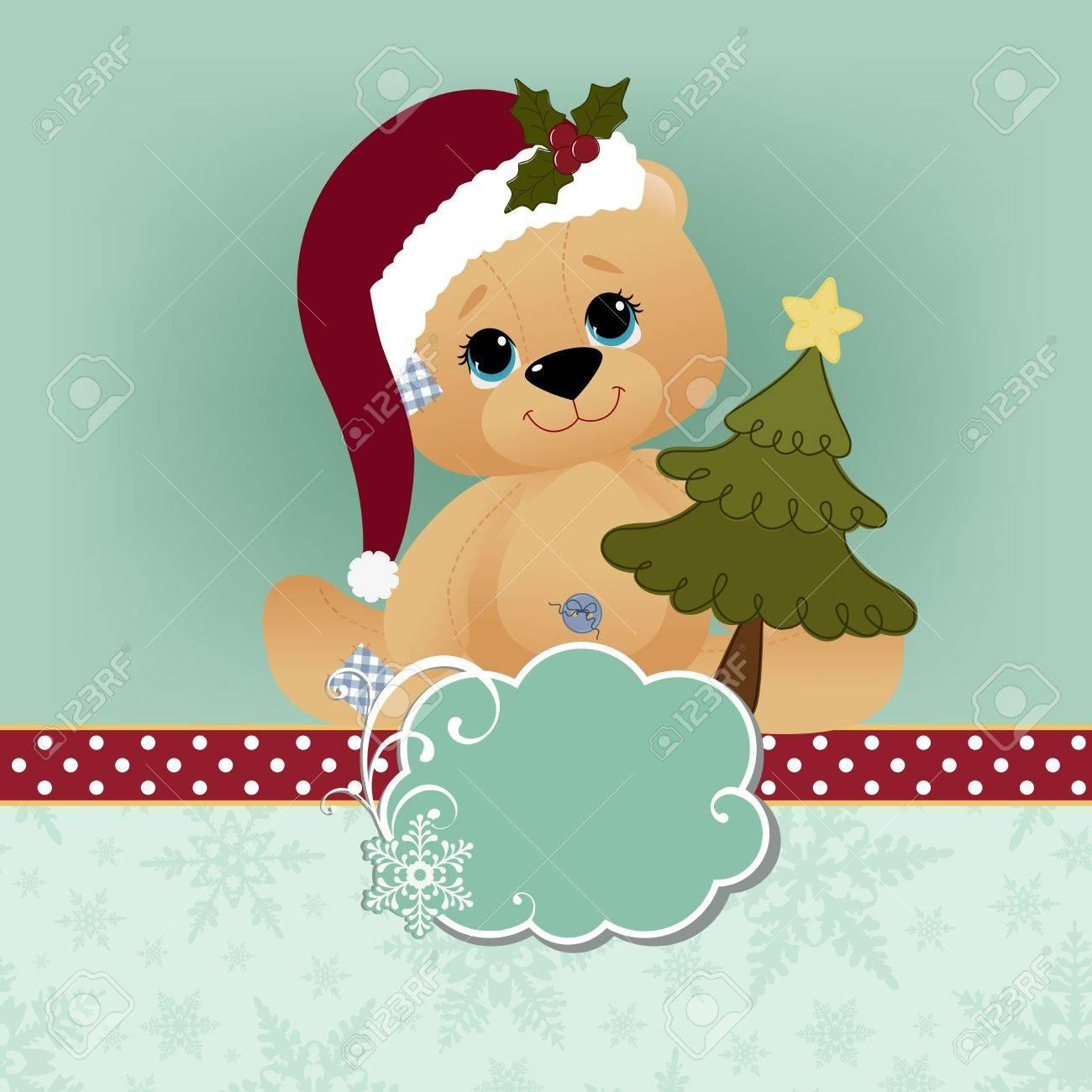 Cute christmas new Year postcard template Stock Vector - 15698142