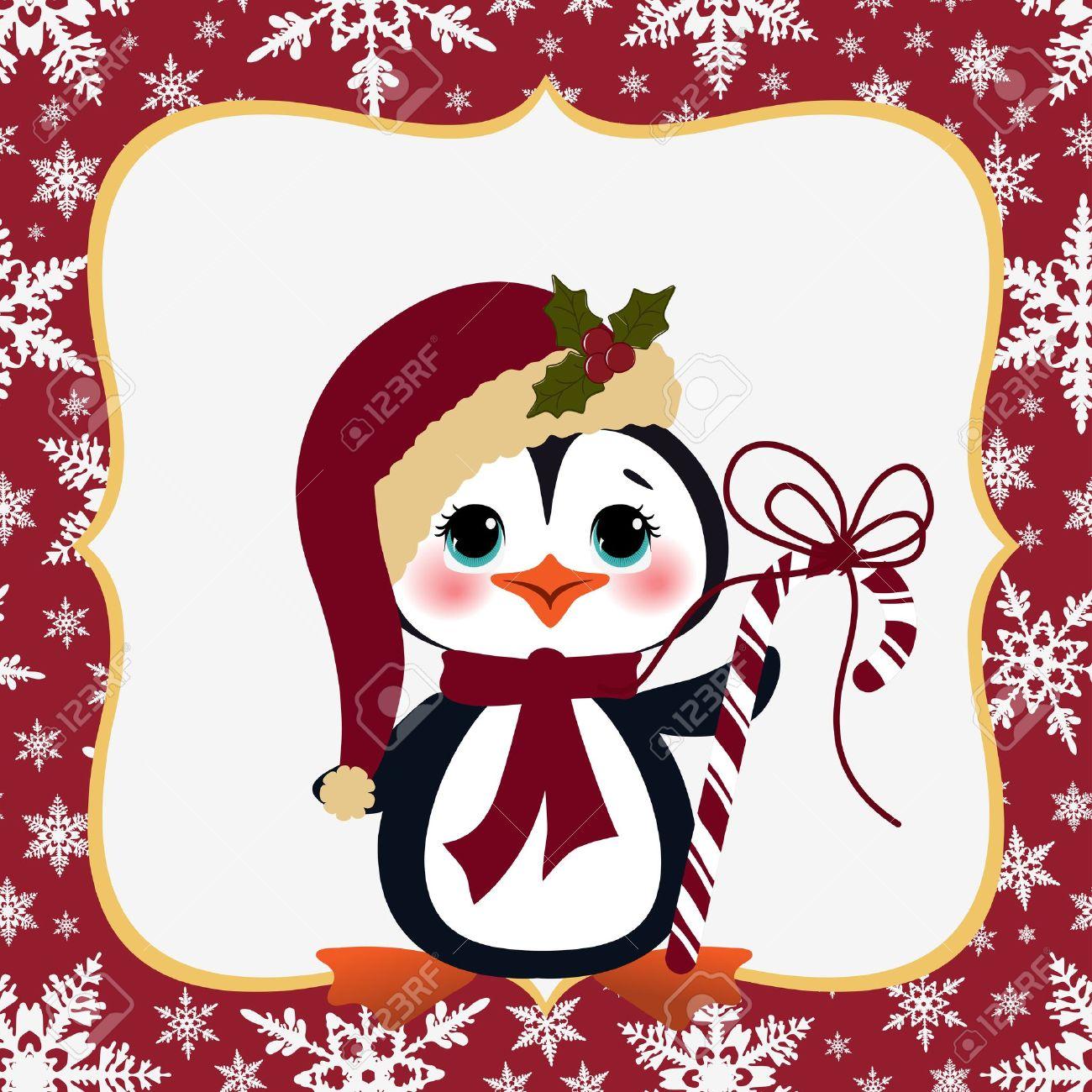 cute christmas new year postcard template stock vector 15786793