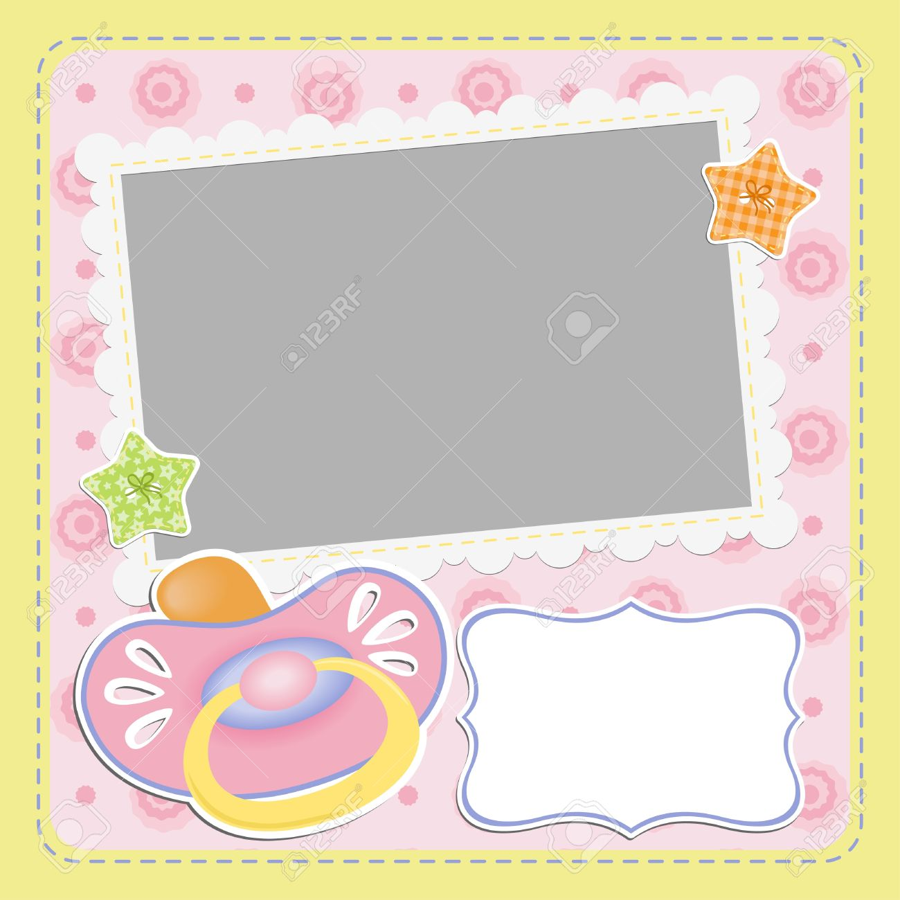 Cute template for baby s card Stock Vector - 16038527