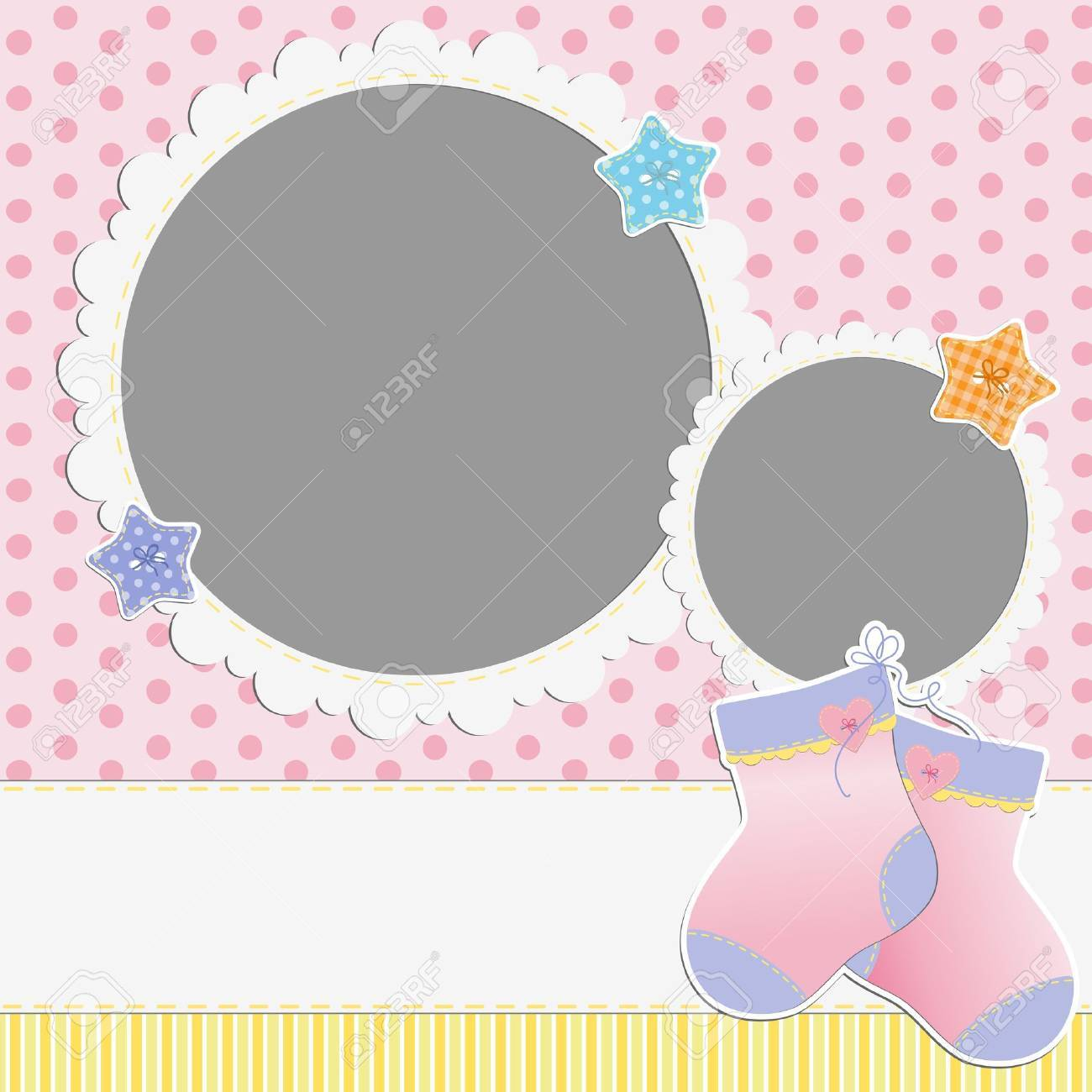 Cute template for baby s card - 16038524
