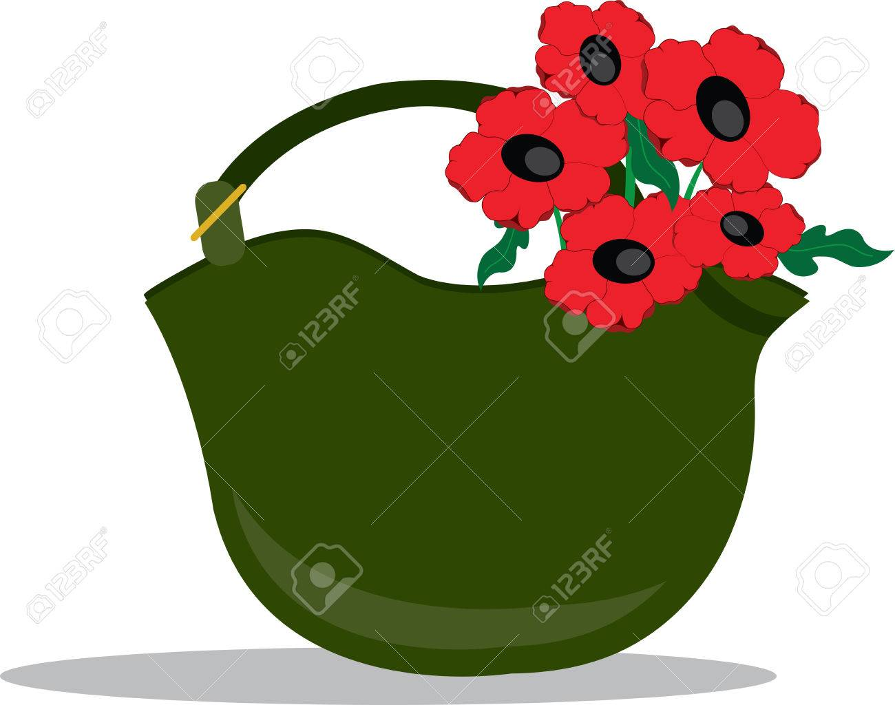Remember The Veterans With This Combat Helmet And Poppies Design
