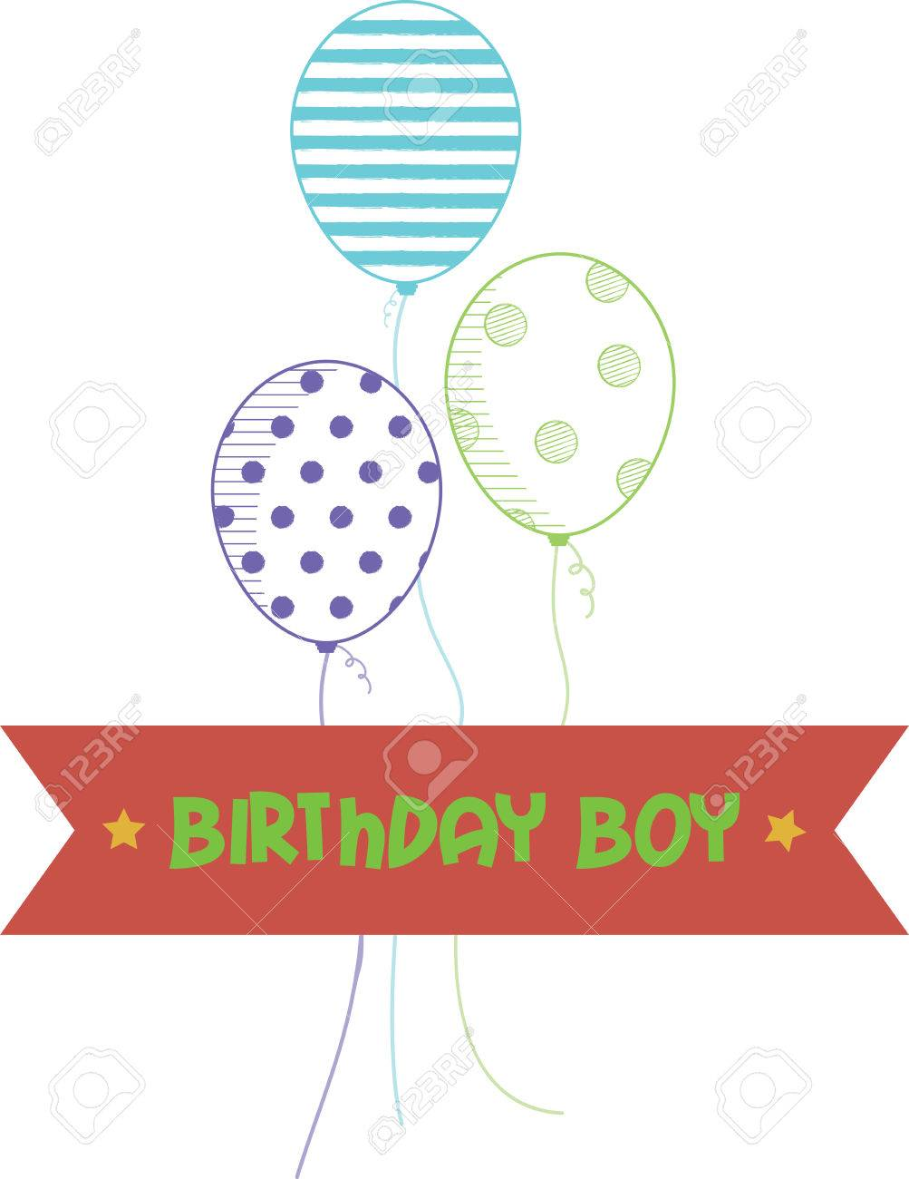 Our Cheery Balloons Deliver A Perfect Birthday Wish To Happy Boy Stitch It On