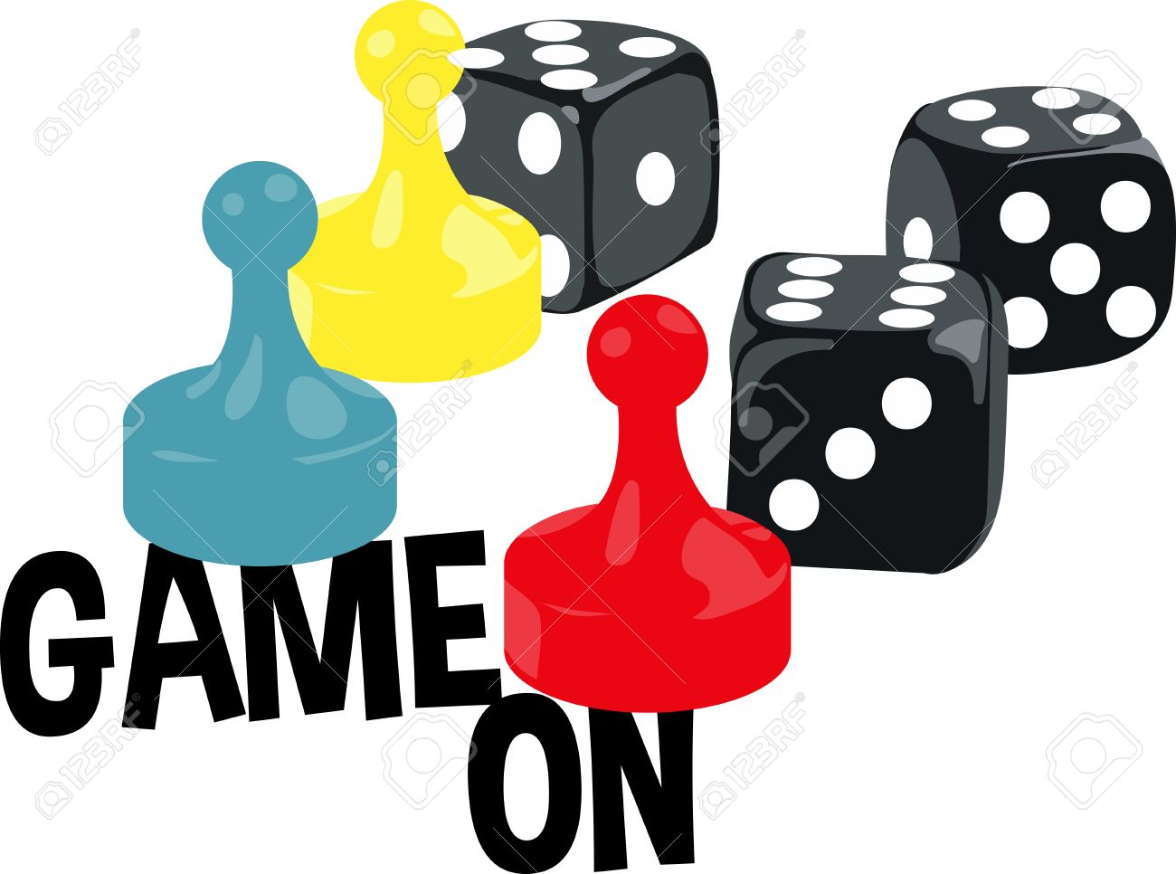 Board Game Players Will Like These Game Pieces Royalty Free