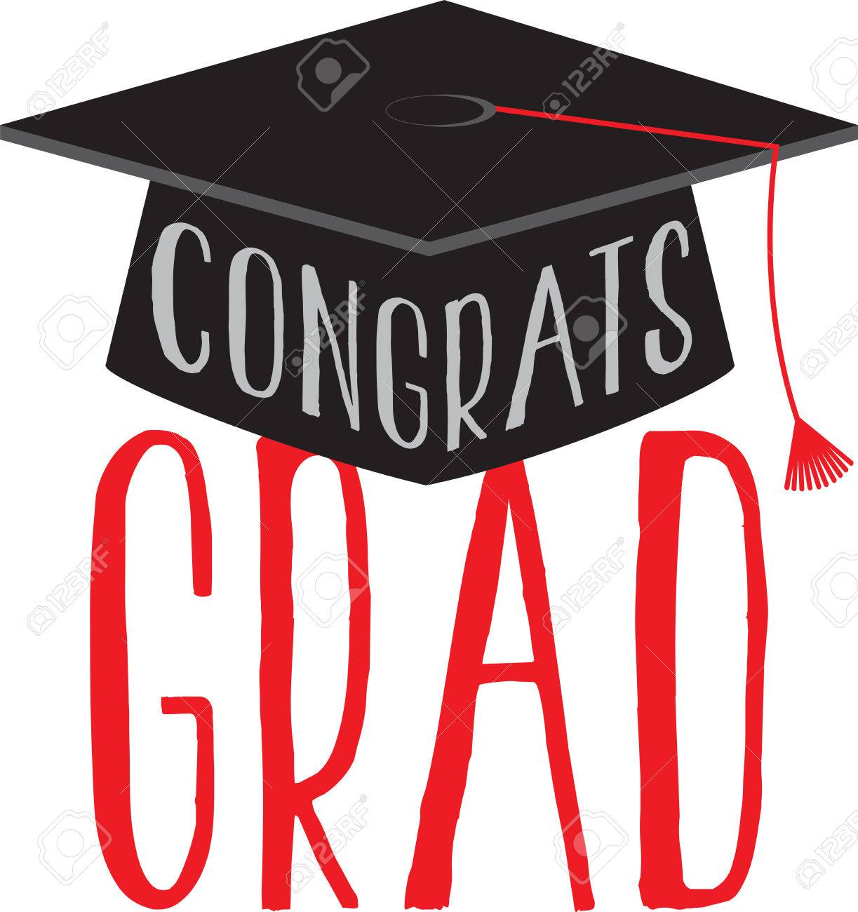 congratulate your dear one with this design embellished on their rh 123rf com free graduation cap and gown clipart