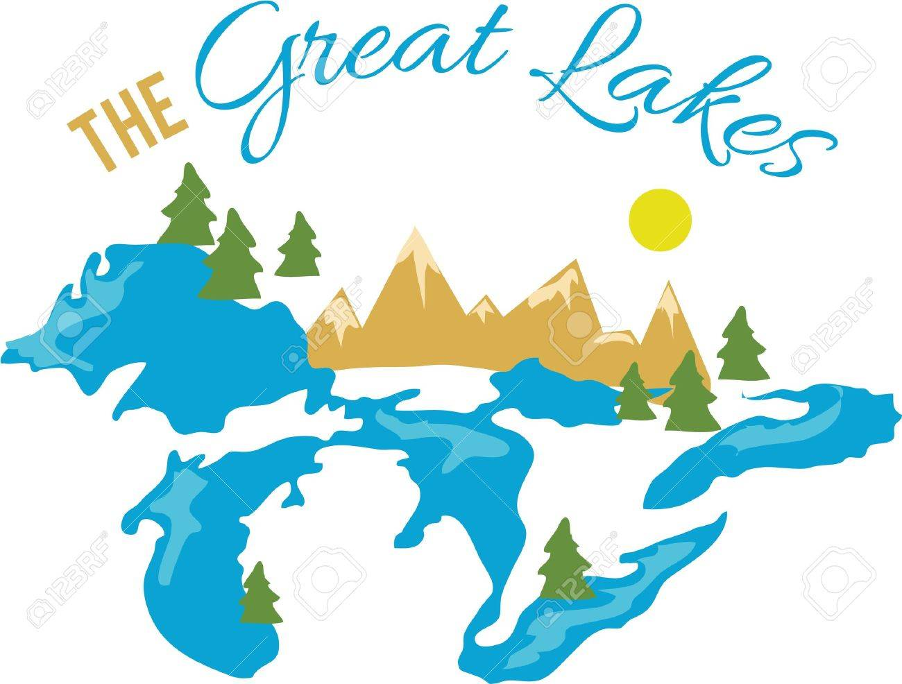 Great Lakes Clipart Michigan Clipart Great Lakes PNG State | Etsy