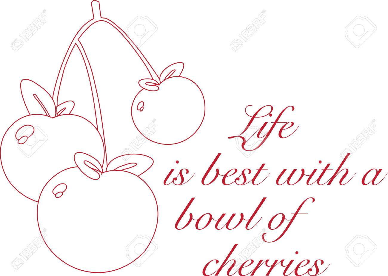 Enjoy The Colorful Cherry Outline Designs By Embroidery Patterns ...