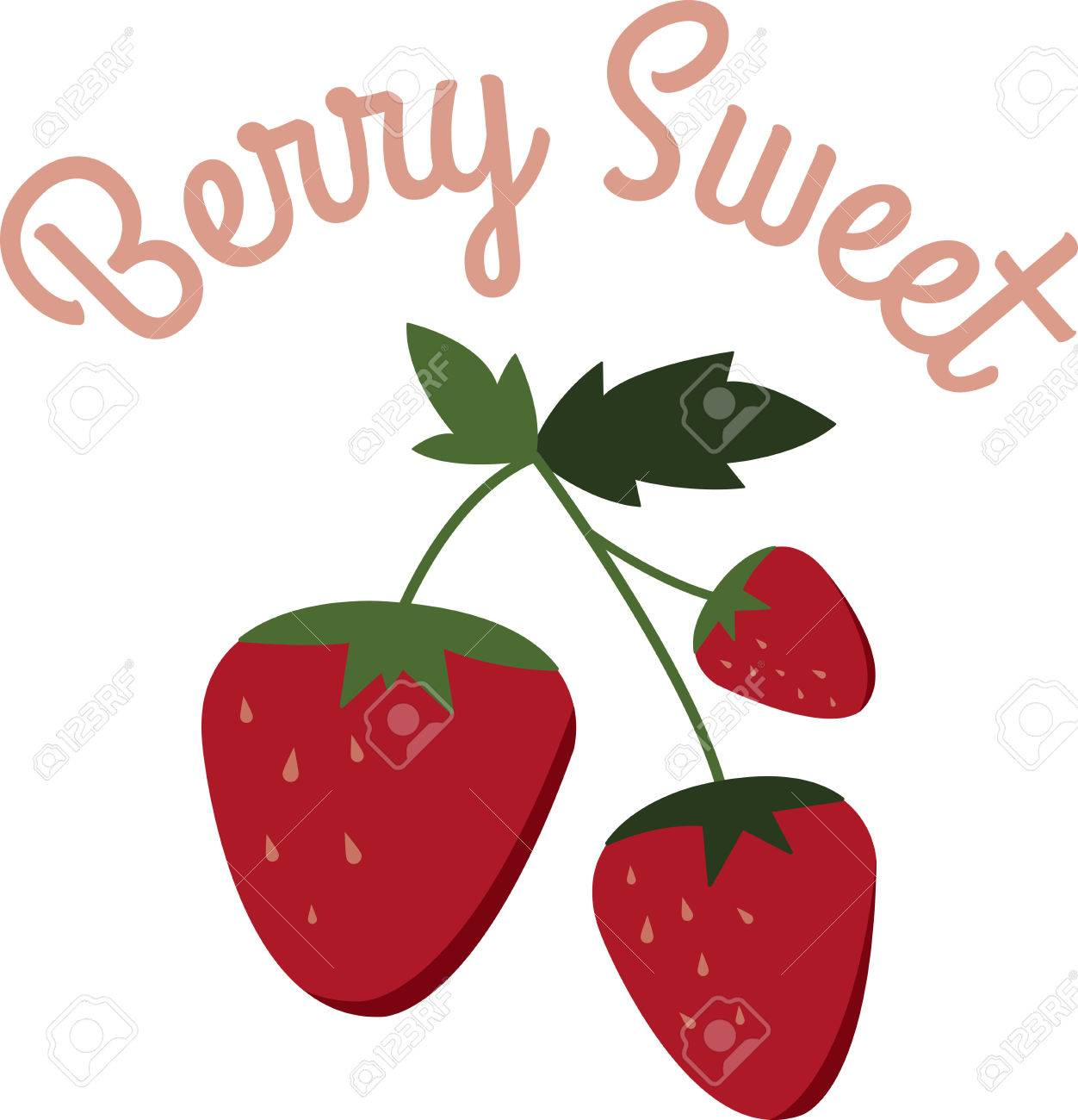 Enjoy Ripe Strawberries Vector - Little screams summer quite like the sweet scent and ripe taste of fresh, plump strawberries. Enjoy the harvest with this design on kitchen linen, ...