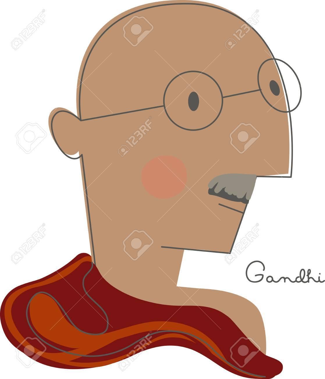 ガンジーの遺産と彼は衣類スカーフ刺繍枠にこのデザイン立っていた