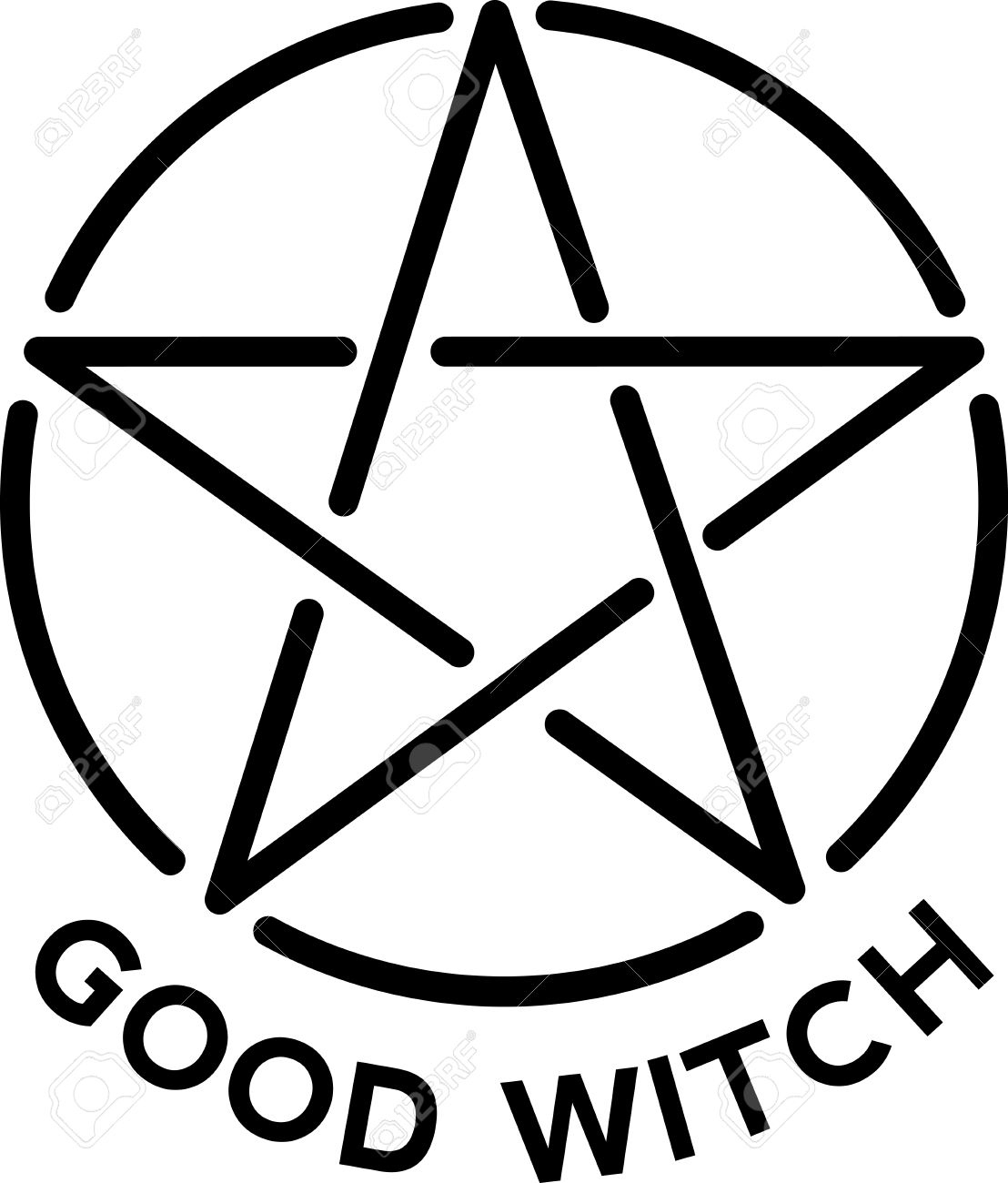 Wicca Pagan Witch Religious Symbol Logo Icon Star Pentagram