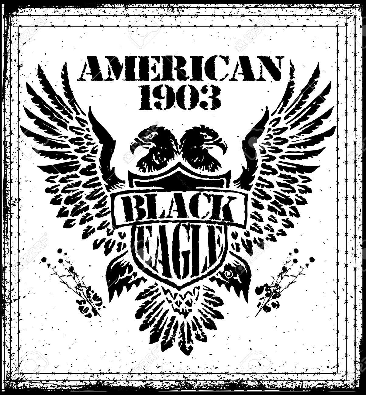 Design t shirt artwork - American Eagle Man T Shirt Graphic Design Stock Vector 34150127