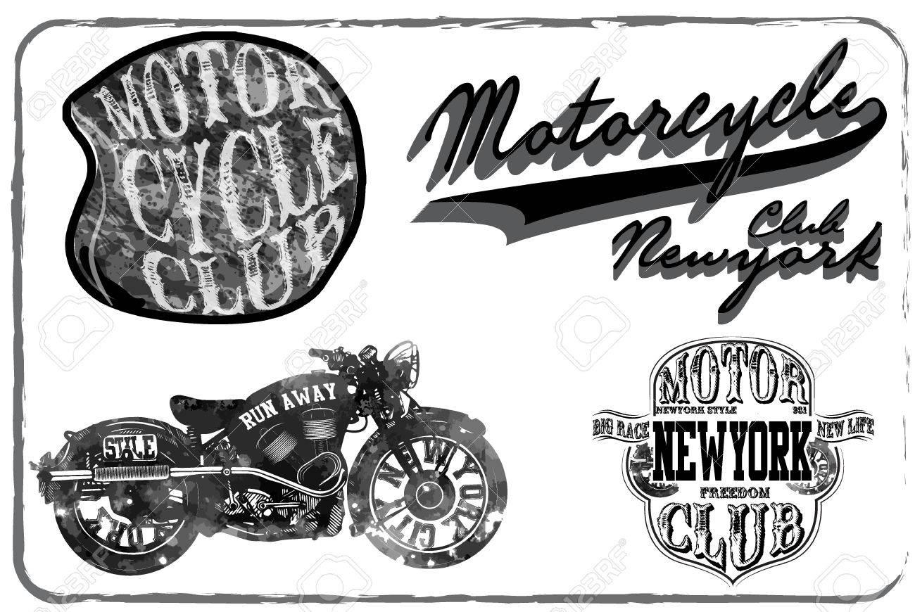 Motorcycle Racing Typografie Graphics Und Poster Schädel Und Old