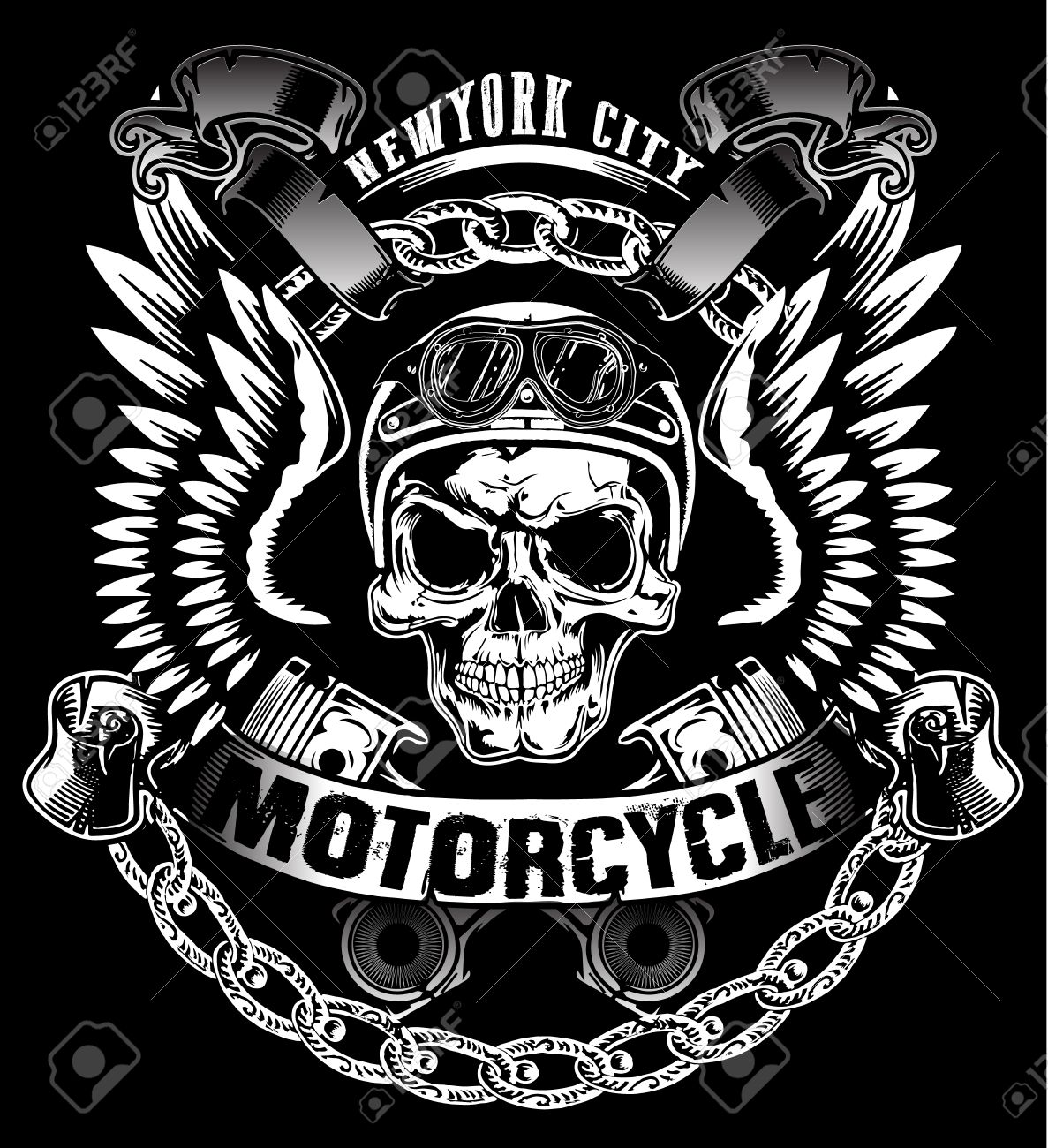 Design t shirts graphic - Skull T Shirt Graphic Design Stock Vector 55095906