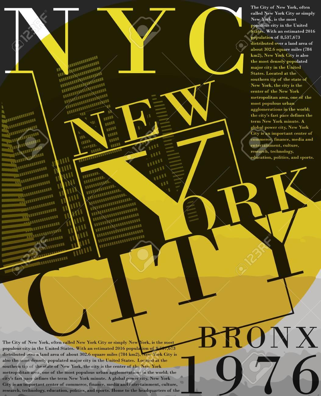 Newyork fashion tee typography graphic design - 88215433