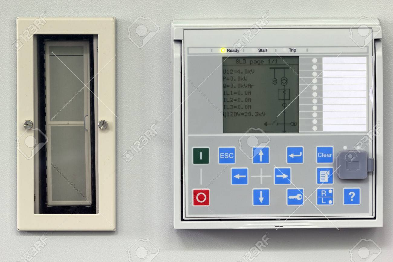 Numerical Power System Protection Relay With Test Switch Stock - Protection relays and circuit breakers