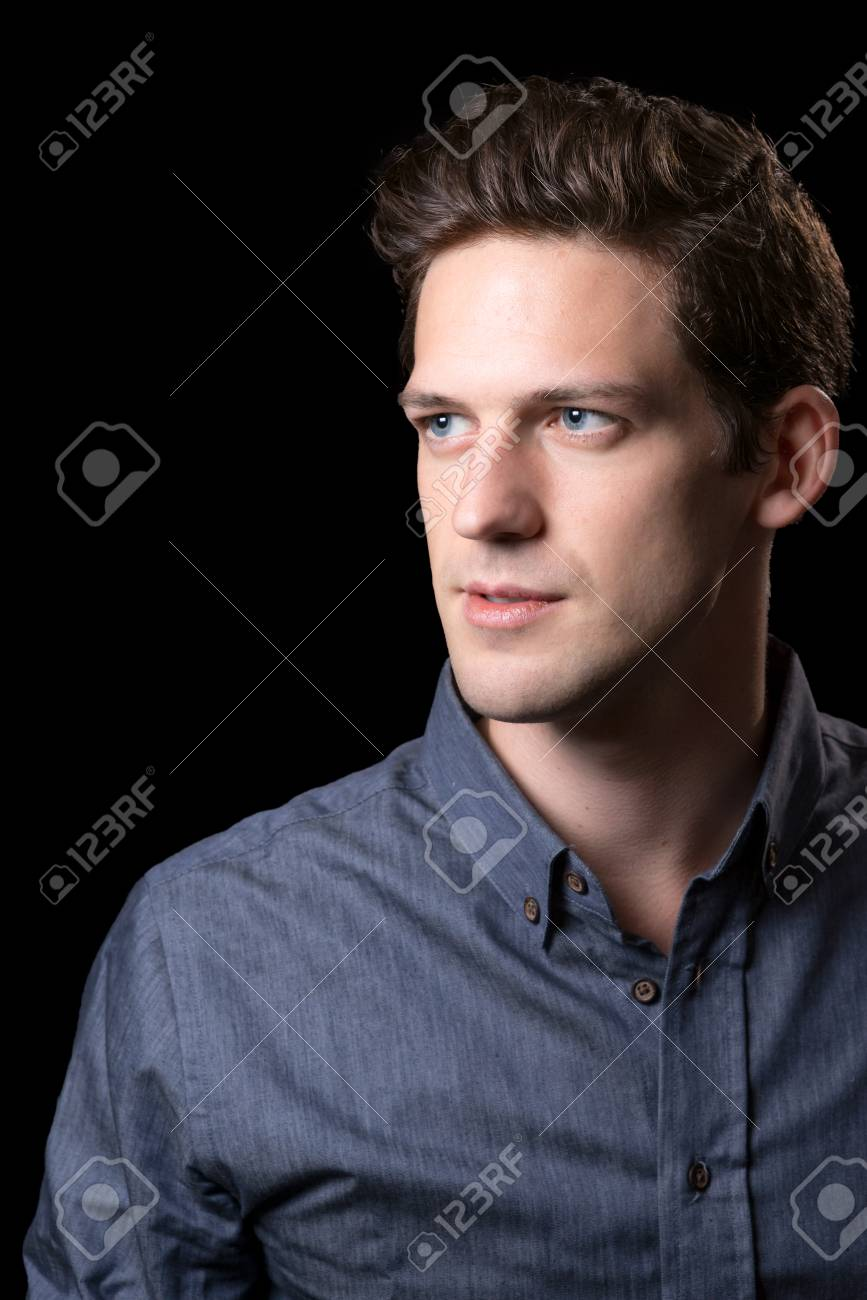 Brown Hair Blue Eyed Male Portrait Stock Photo Picture And Royalty