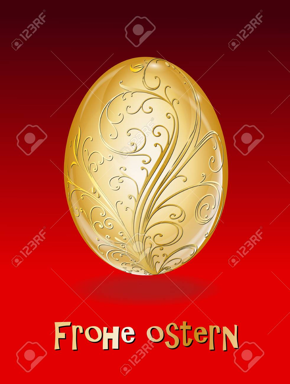 Osterei Gold Stock Vector - 17163701