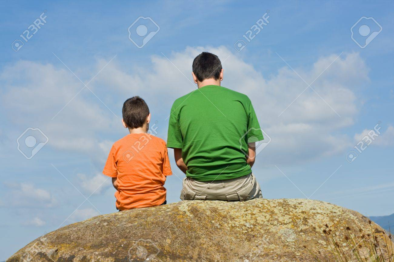 Father giving some advices to his son - the big talk concept Stock Photo - 16925867