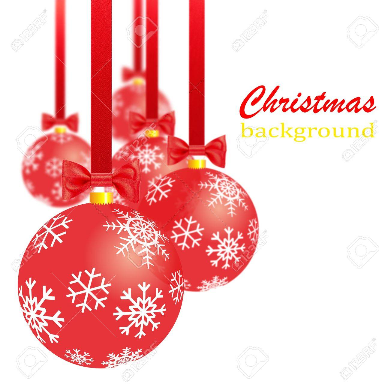 stock photo transparent red christmas decorations bows and ribbons