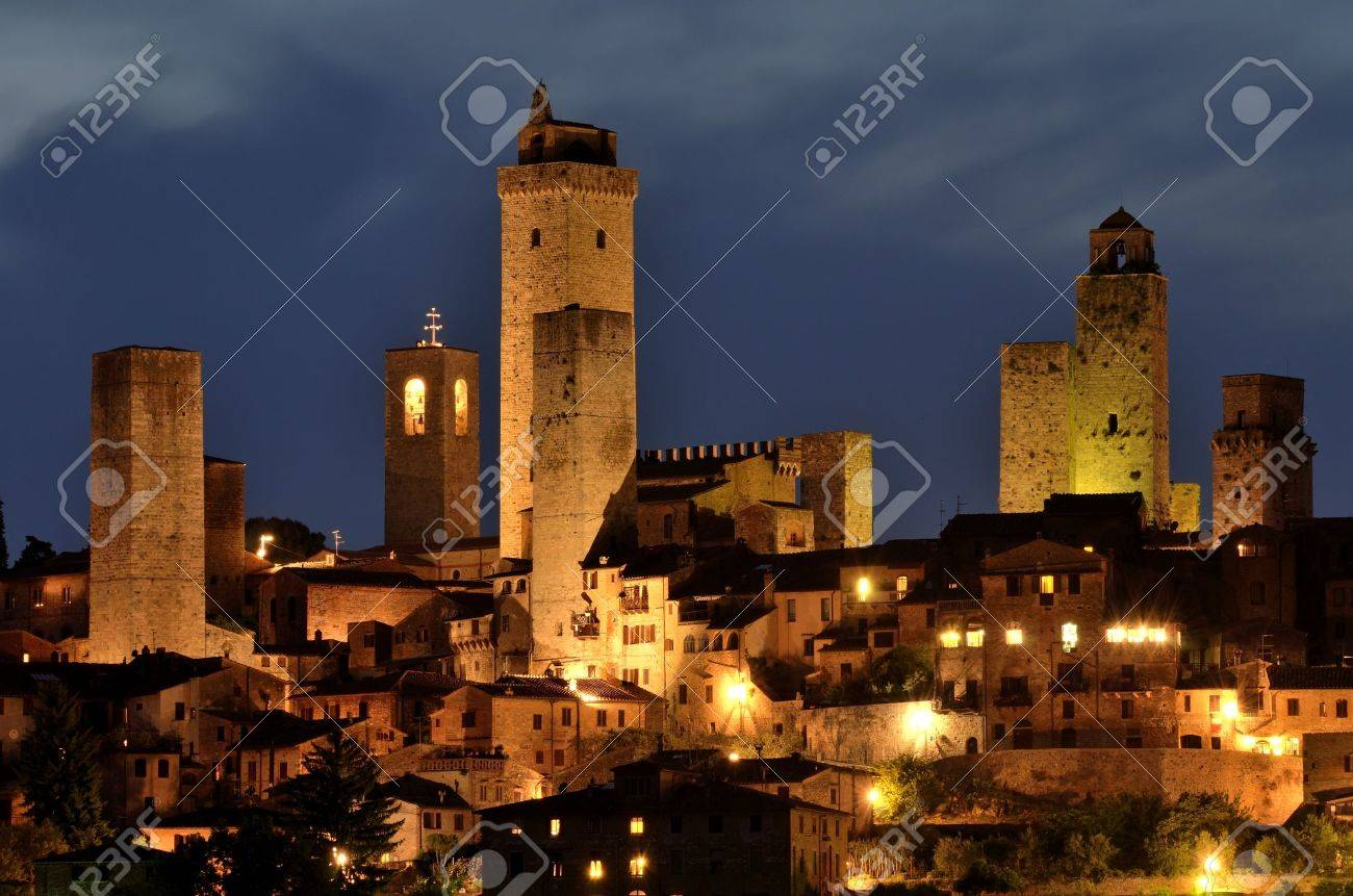 San Gimignano is a small walled medieval hill town in the province of Siena, Tuscany, north-central Italy Stock Photo - 9672050