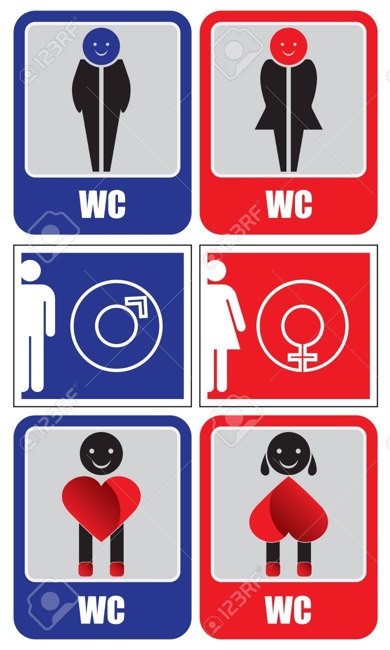 Toilet signs Stock Vector - 11129765