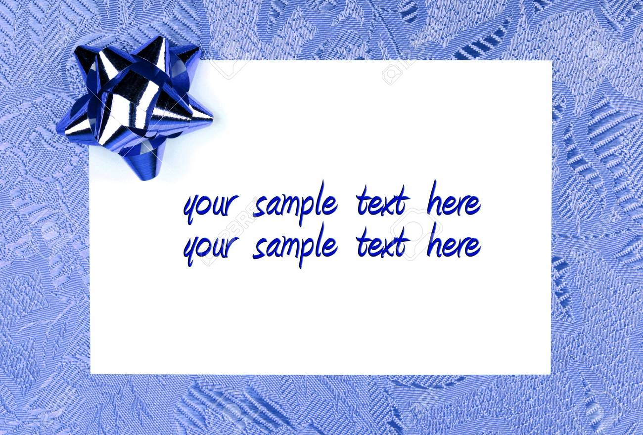Blue Christmas Card Holiday Greetings On Blue Textured Background