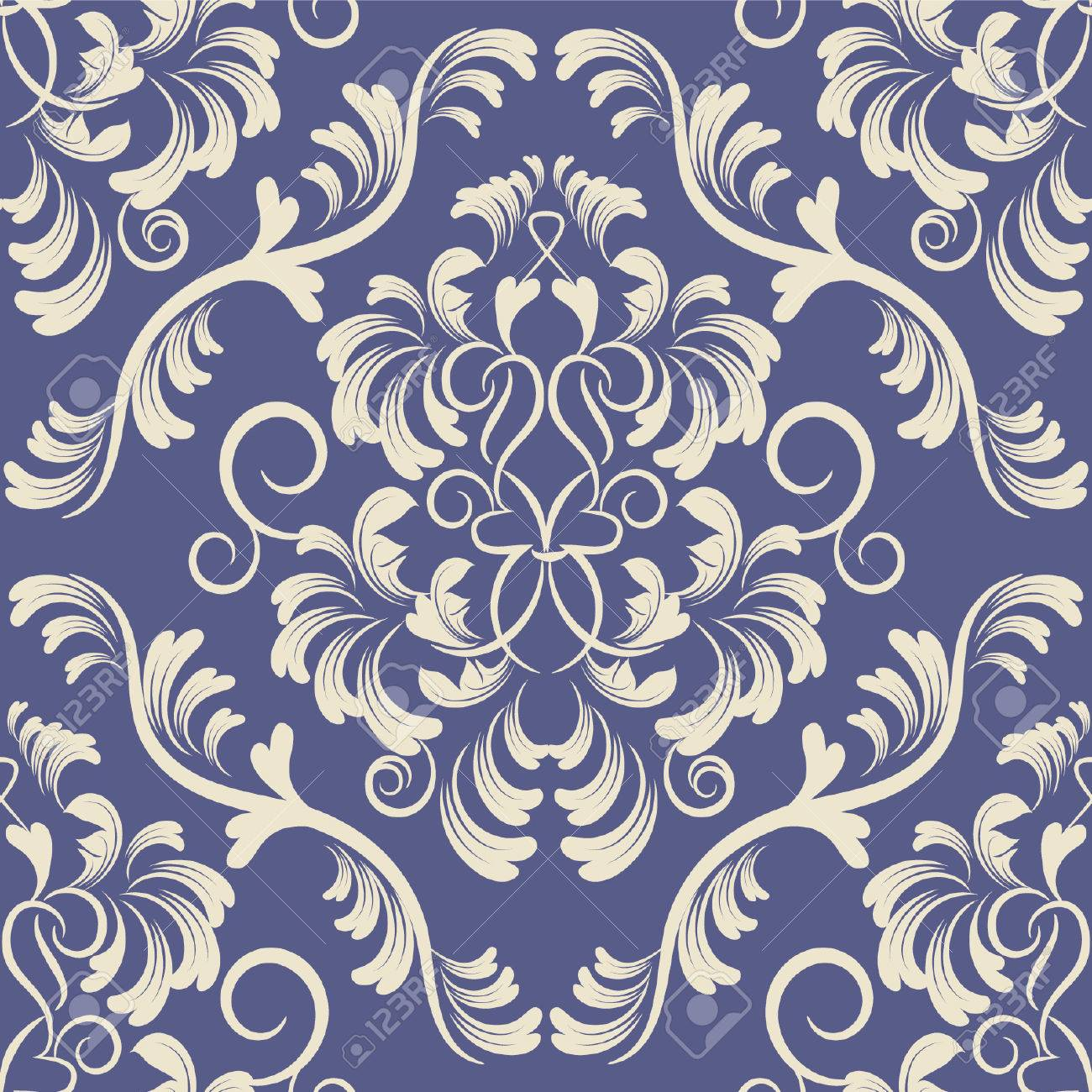 flower seamless background damask pattern floral wallpaper - 27930813