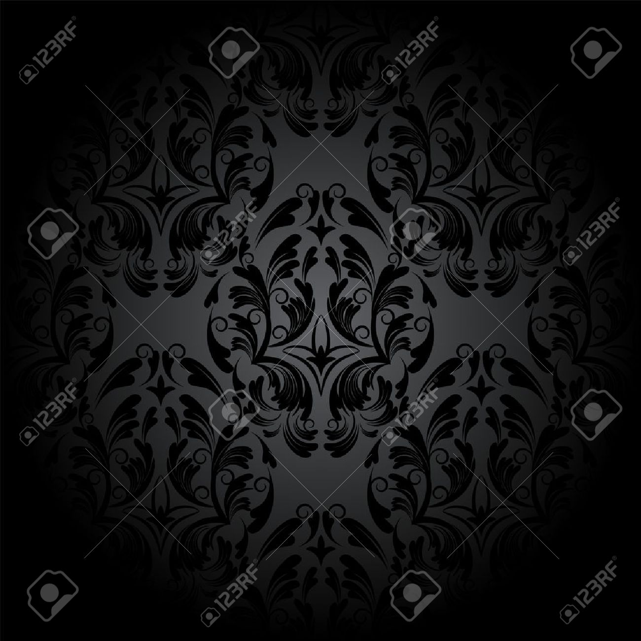 Gothic Pattern Wallpaper luxury seamless charcoal gothic pattern. dark wallpaper royalty