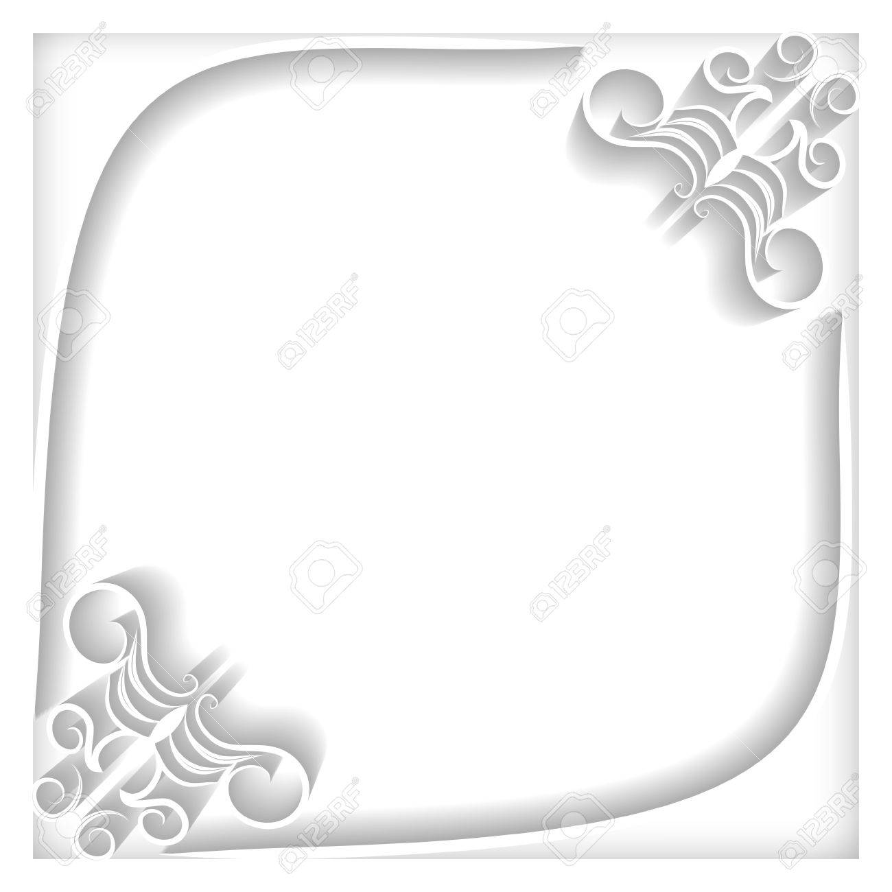 Beautiful white frame with damask pattern greeting card invitation banco de imagens beautiful white frame with damask pattern greeting card invitation card stopboris Image collections