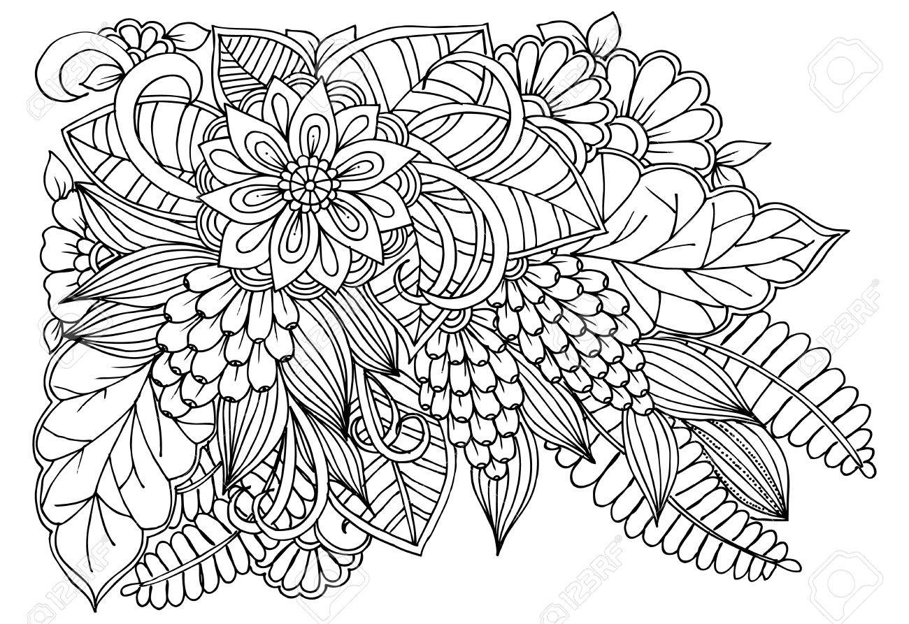 Fantástico Páginas Para Colorear De Flores Blancas Y Negras ...