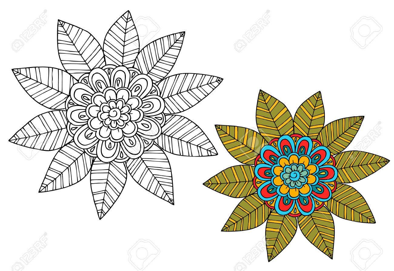 Flores En Blanco Y Negro Como Elemento De Diseno Puede Utilizar