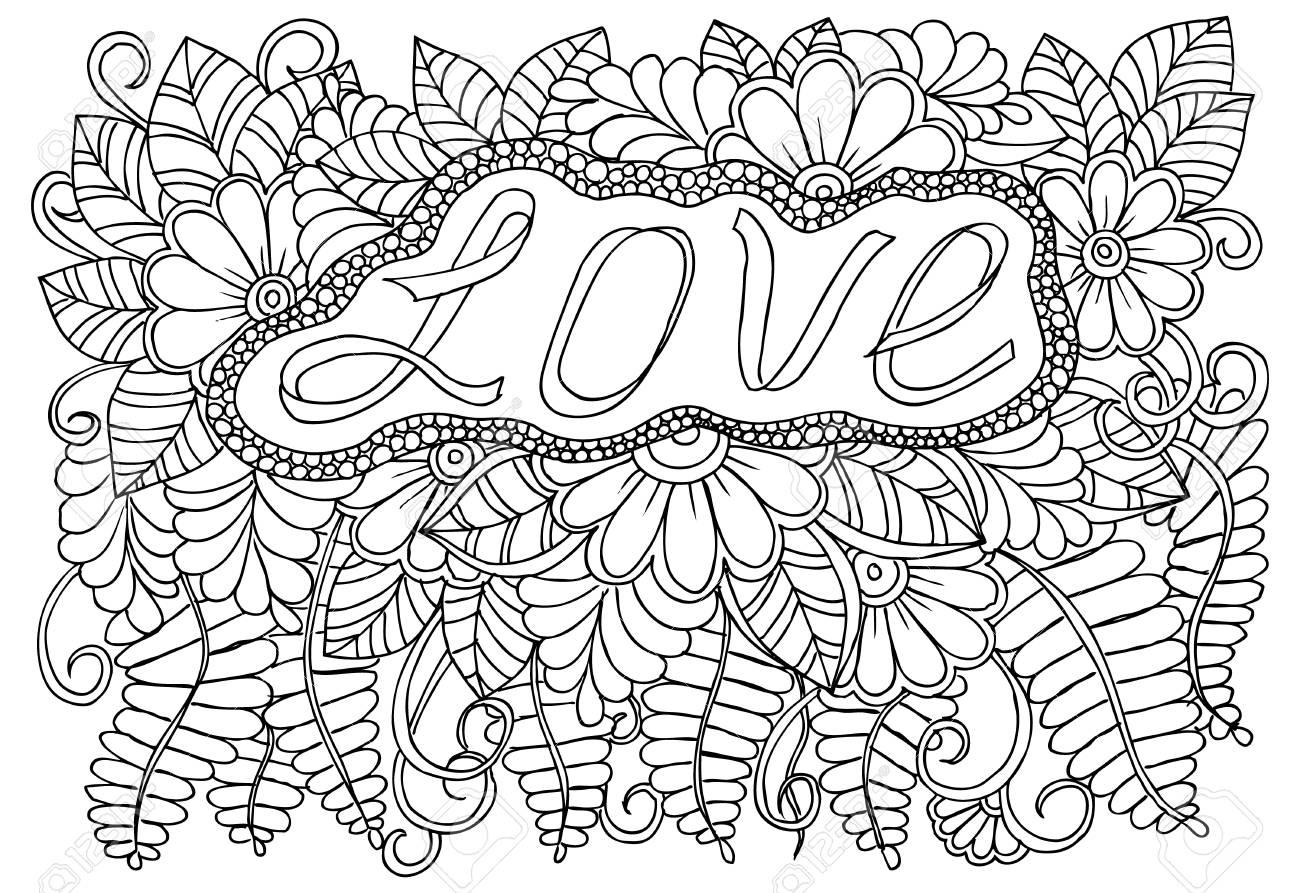 Dibujo Para Colorear De Flores Monocromáticas Para Colorear Para