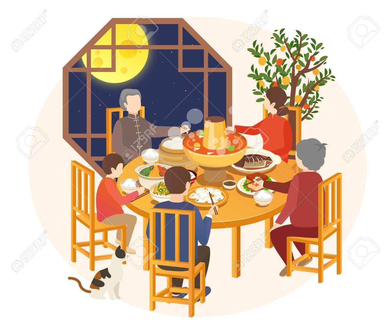 2019 New Year's Pig Year food dinner - 114465291
