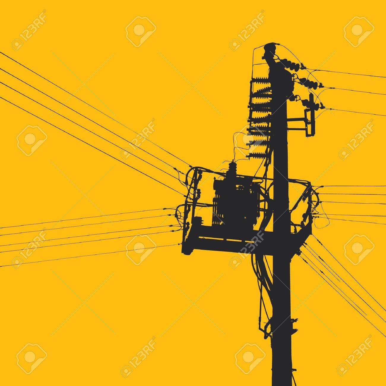 Clipart Electricity Pylon Vector Electricity Pylon