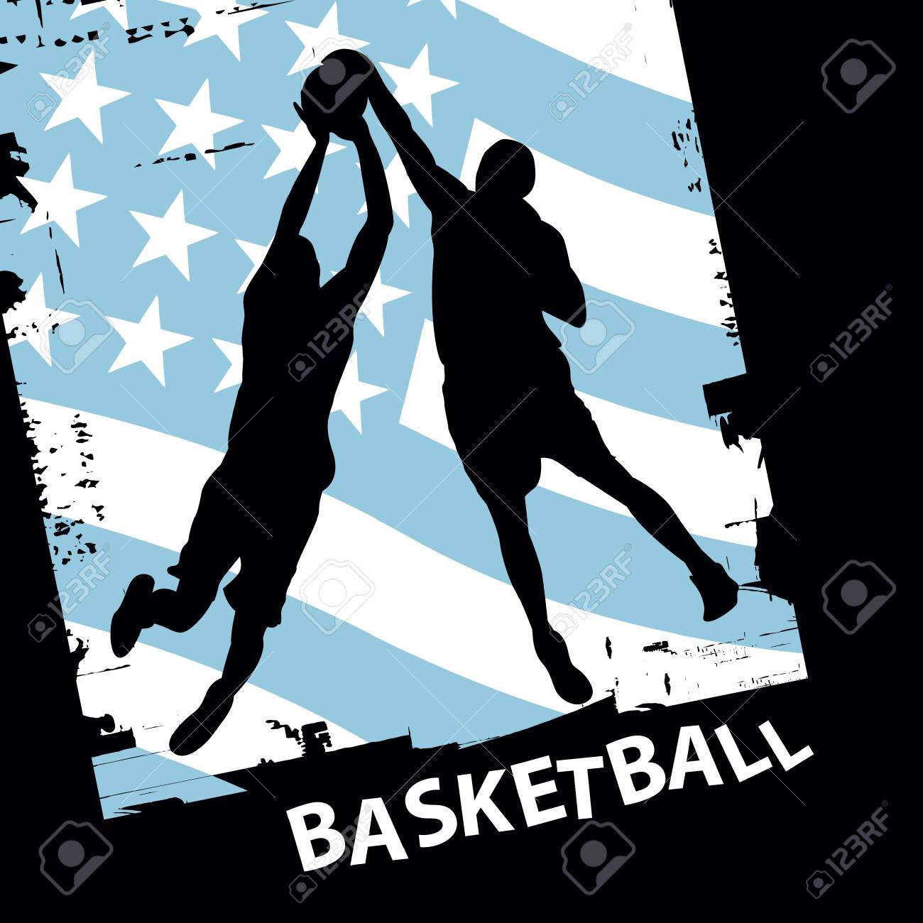 vector basketball players Stock Vector - 6180132