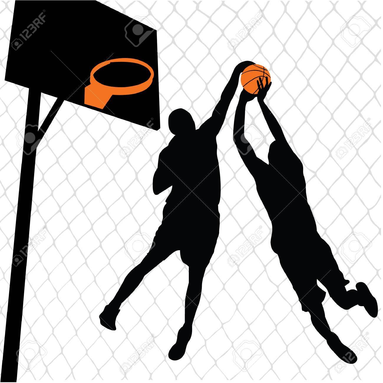 basketball players Stock Vector - 6993173