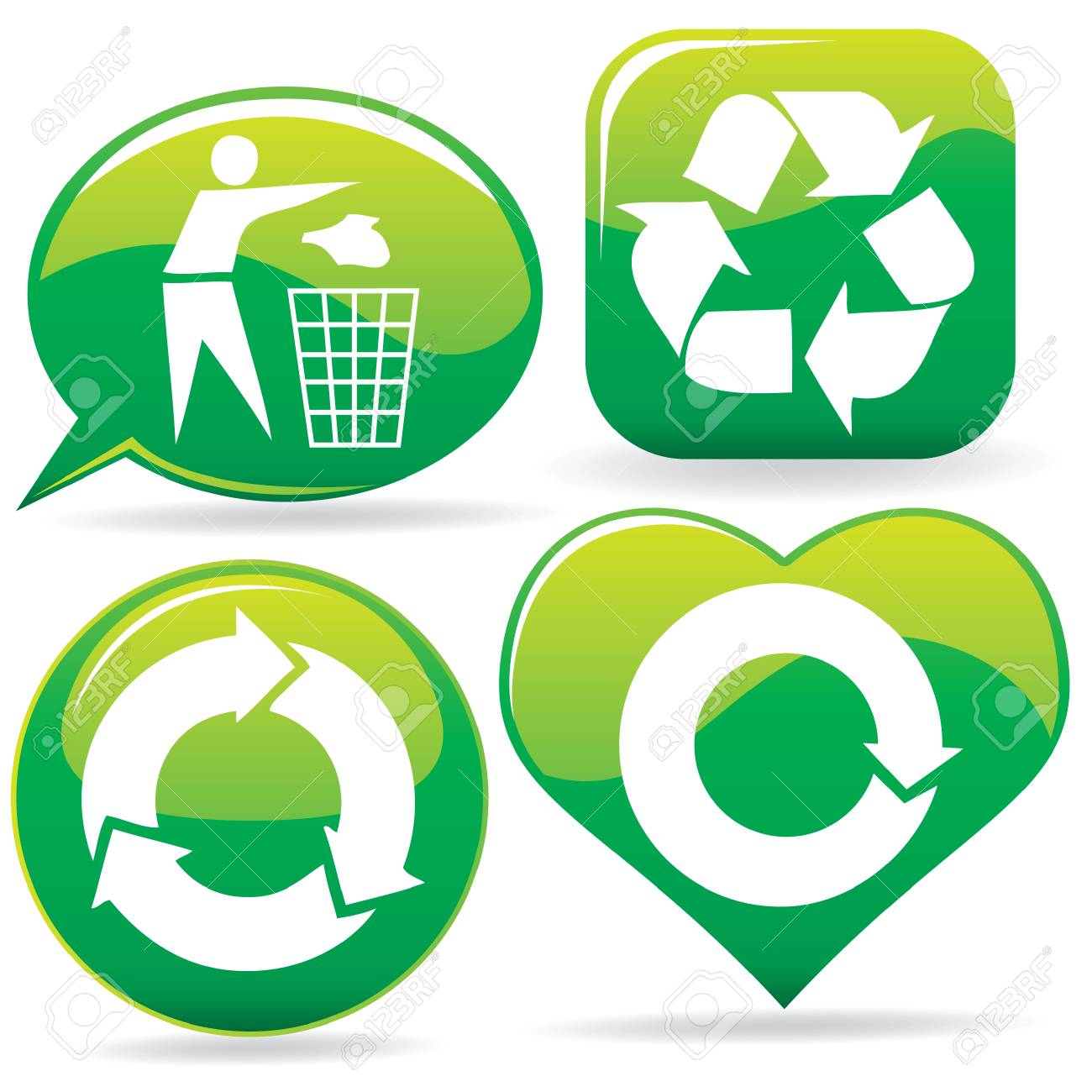 recycle signs Stock Vector - 7414530