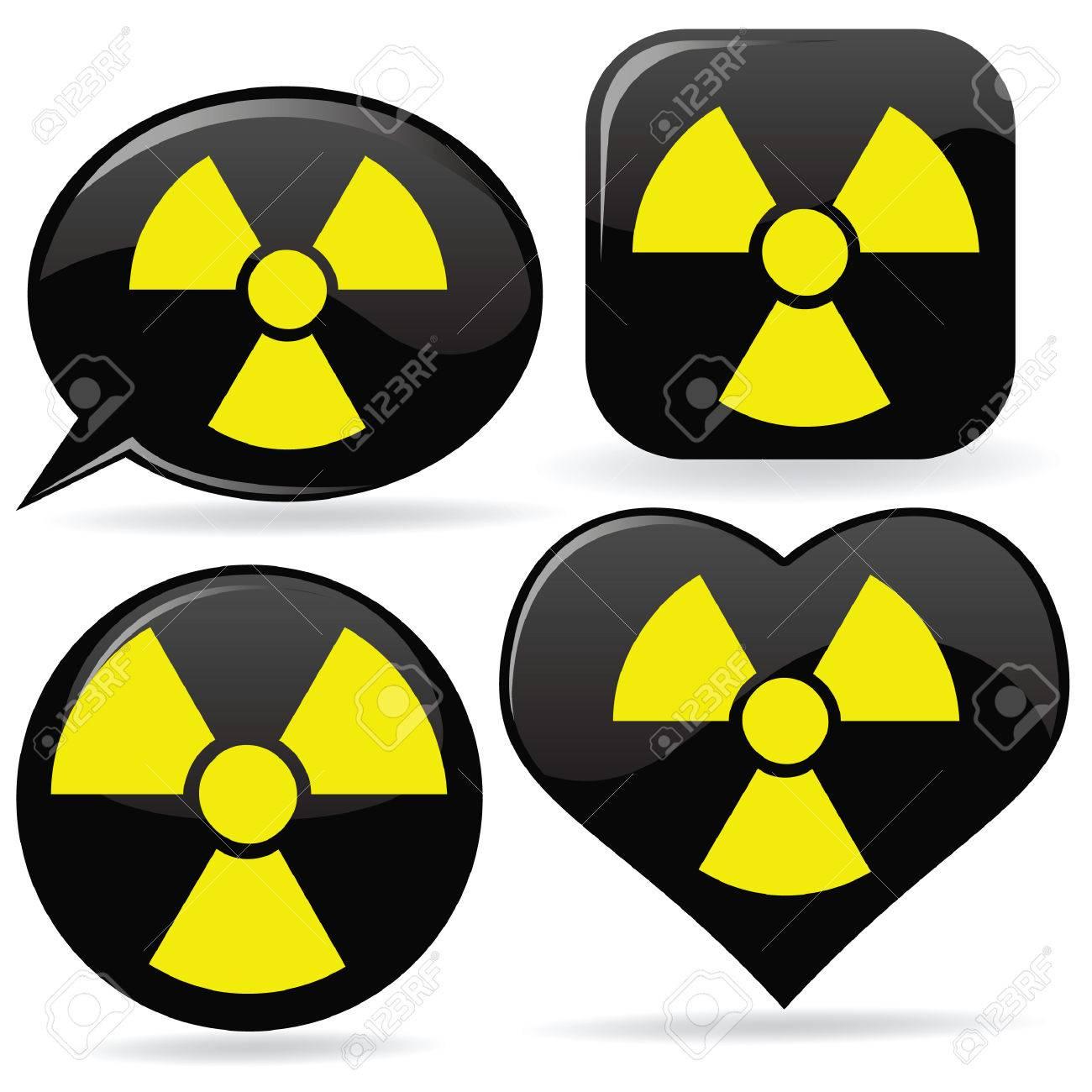 set of radioactive signs Stock Vector - 7414590