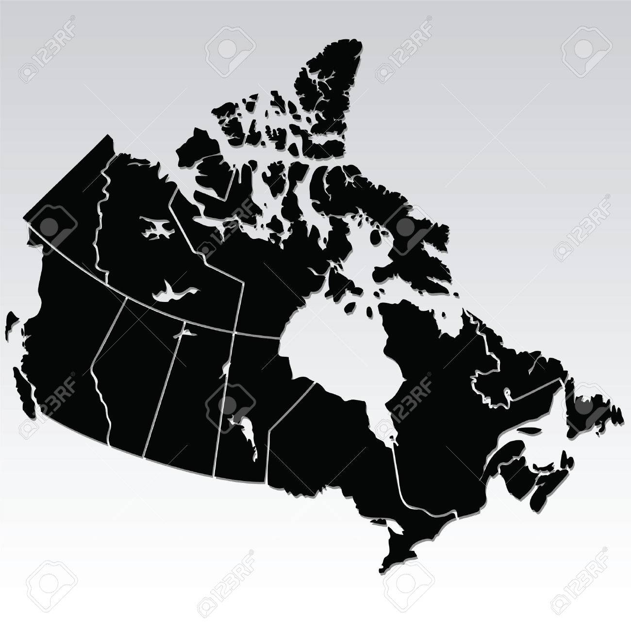 map of canada Stock Vector - 7433746