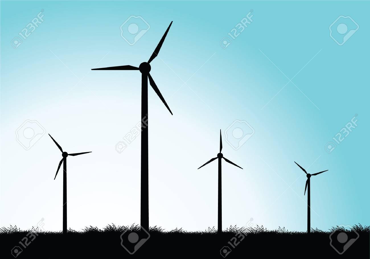 windmills Stock Vector - 7643882