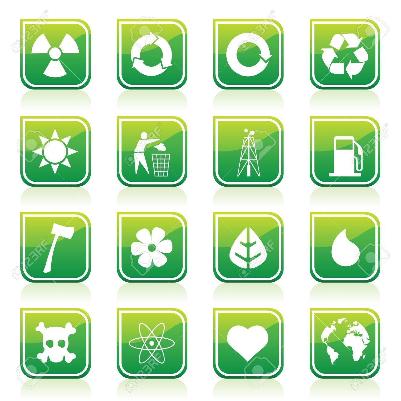environmental icons Stock Vector - 7643852