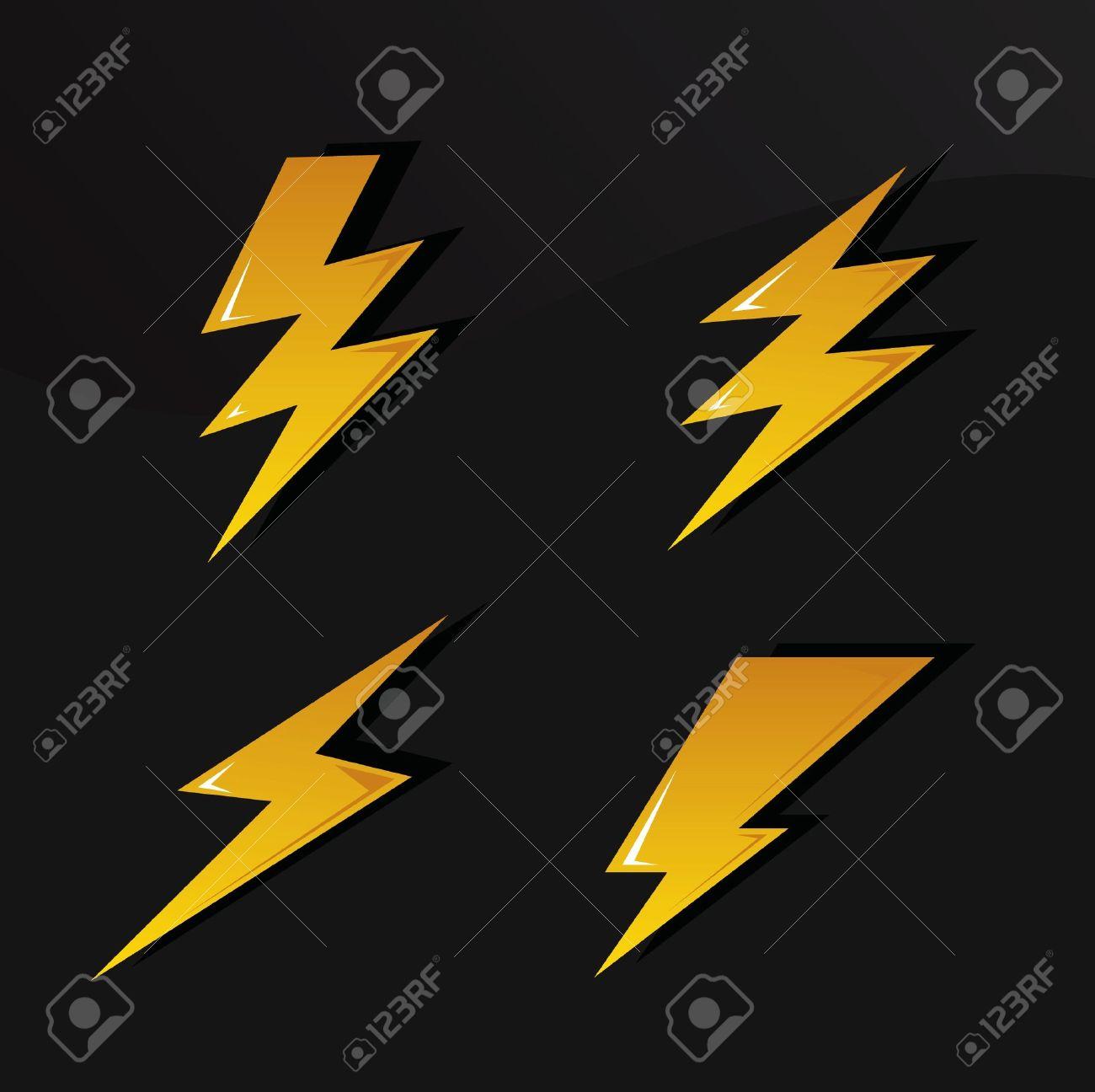 symboles de foudre Banque d'images - 9312369