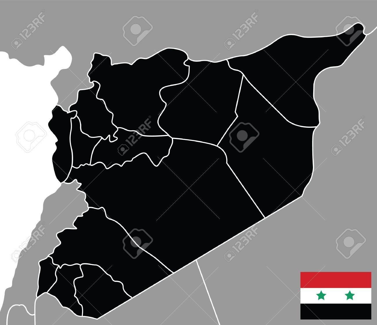 carte de la Syrie Banque d'images - 9312379