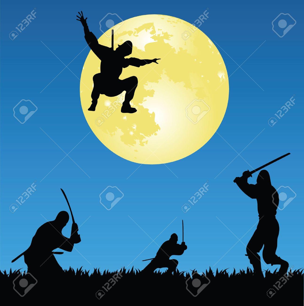 Ninjas Banque d'images - 9312378