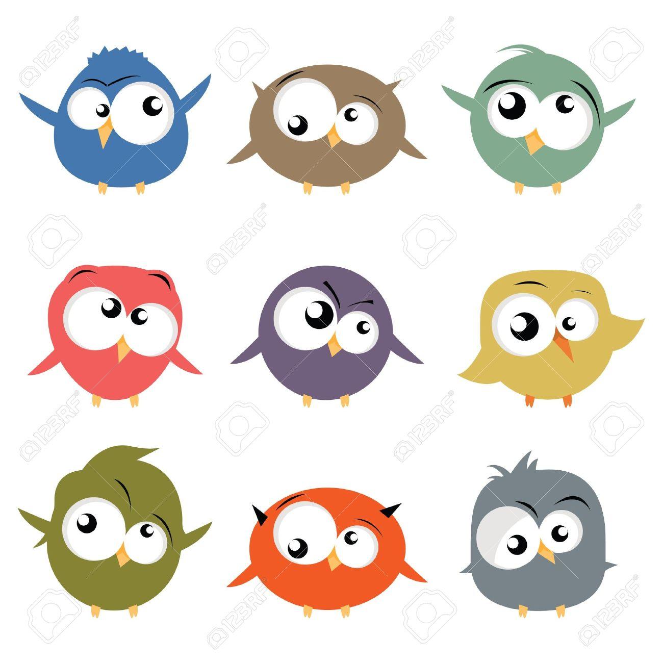 oiseaux de dessin animé Banque d'images - 9473834