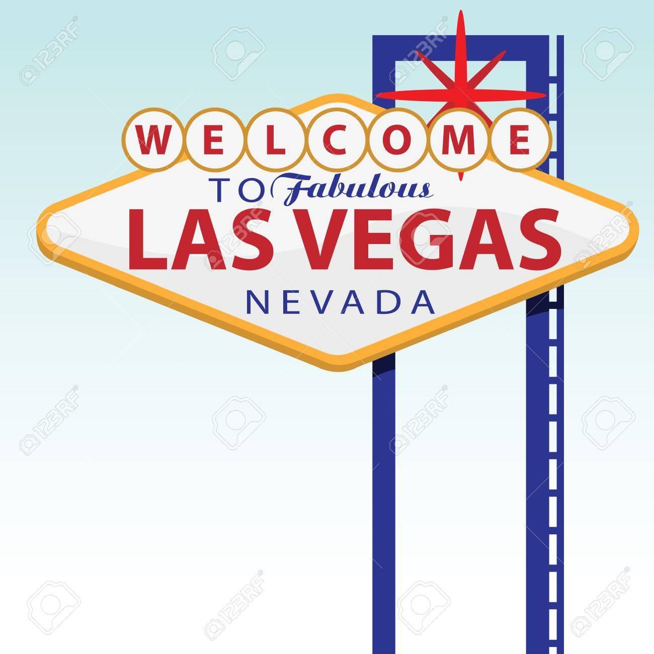 Bienvenue à Las Vegas Banque d'images - 10528576
