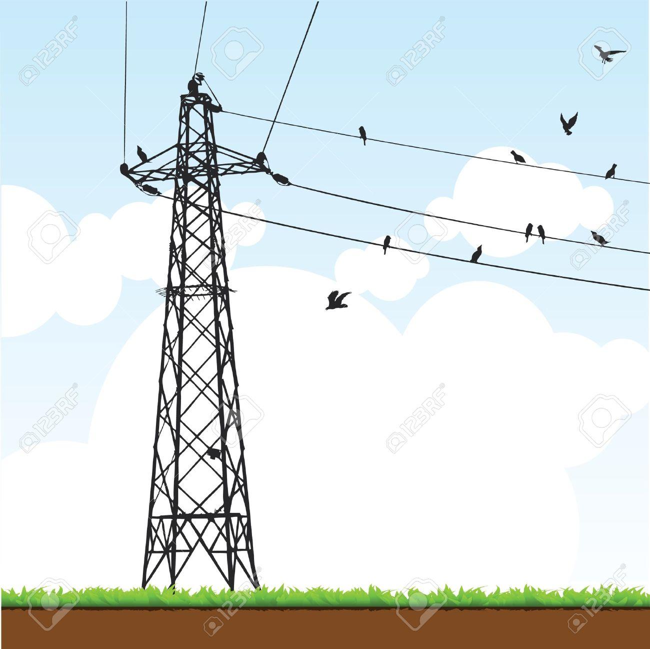 pylône électrique Banque d'images - 10528954