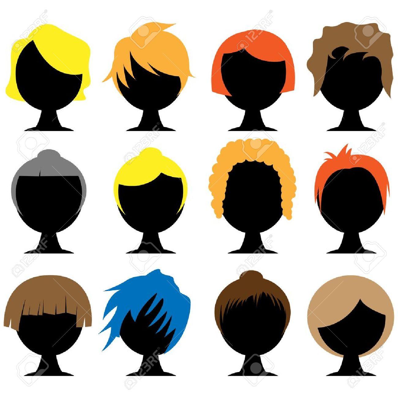styles de cheveux Banque d'images - 19274991