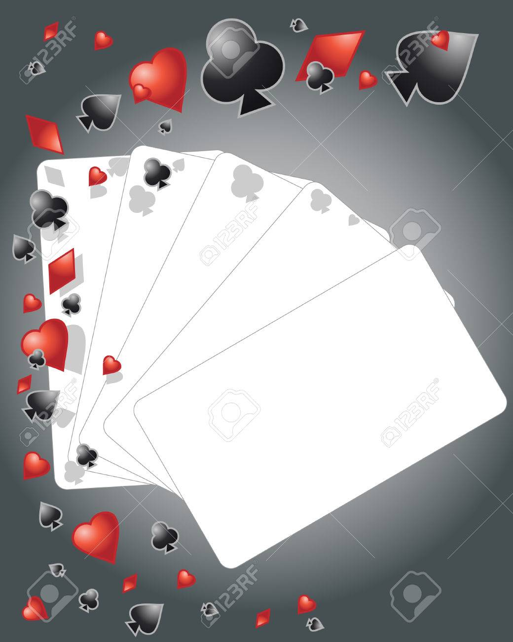 an illustration of playing card elements with cards left blank for your design Stock Vector - 8077617